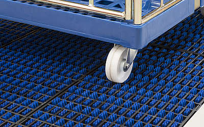 The ProfilGate® system with grates made of synthetic material.